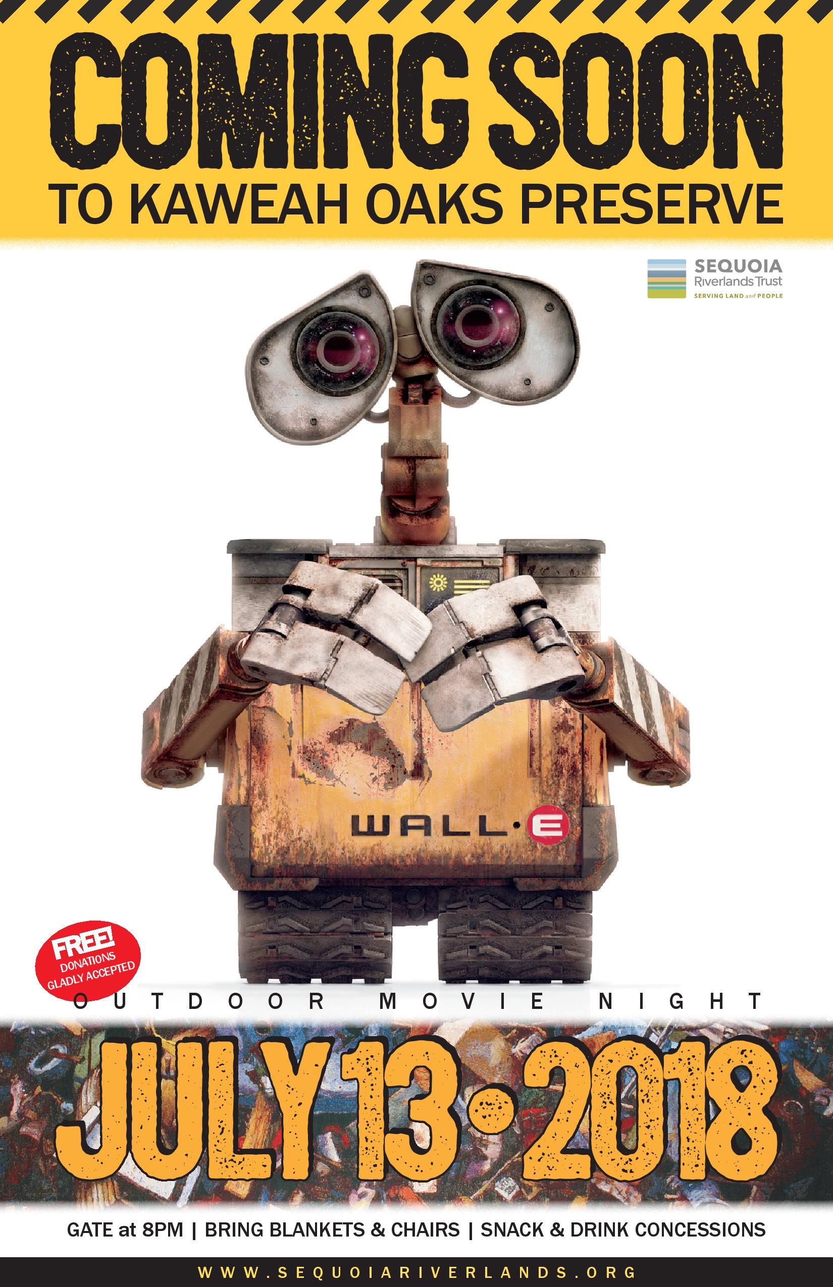 Kaweah Oaks Movie Night featuring WALL-e!