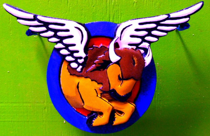 RB27136 - Winged Bison  Bar Sign