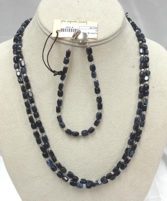 SD Chic Beads-2 Strand Dumortierite Dk Blue