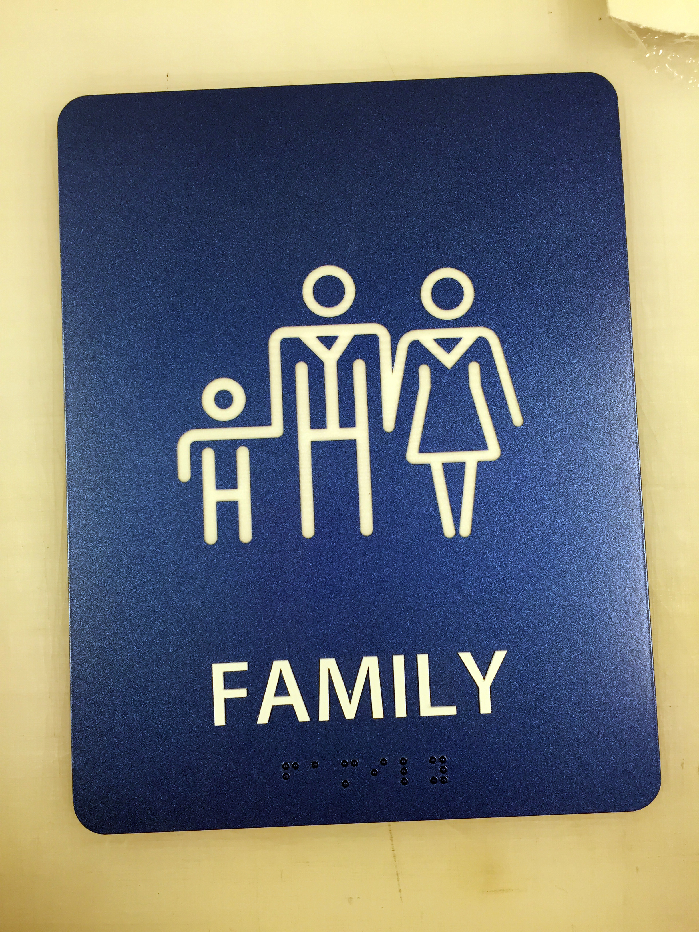 Family Restroom Sign- Limited Quantities