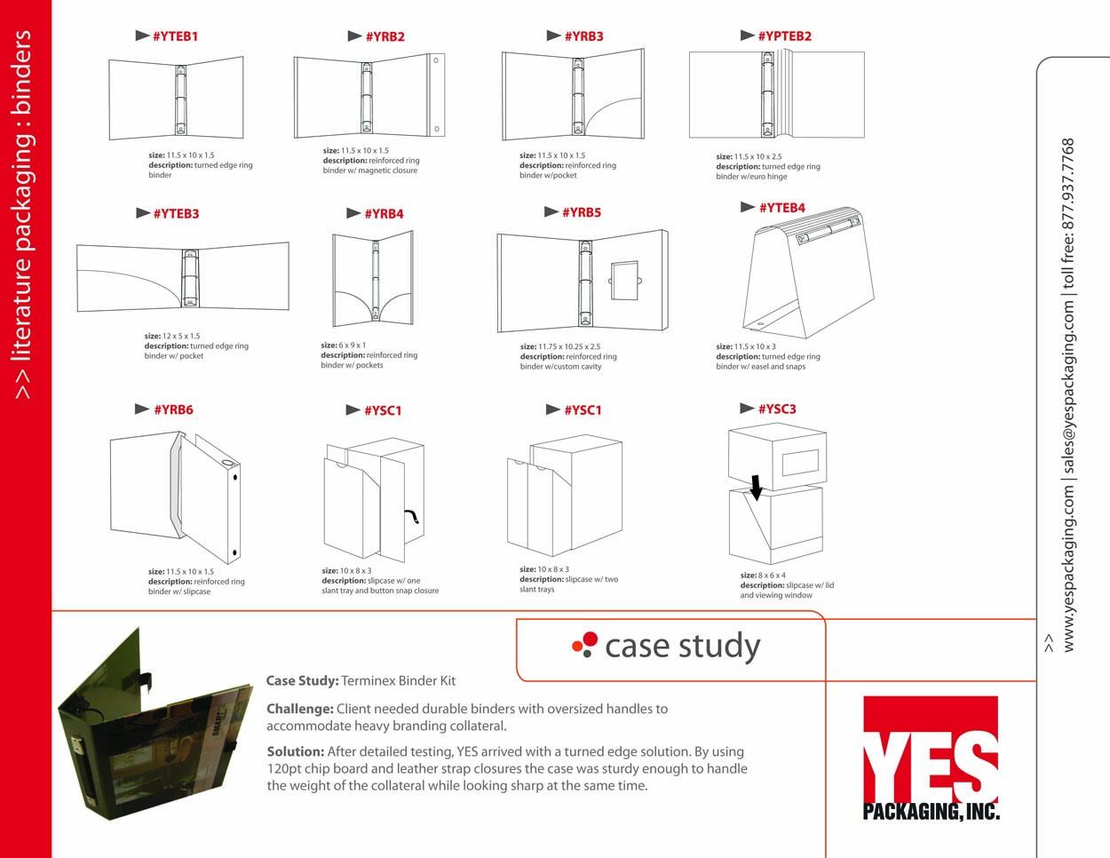 Binder Packaging Catalog Page