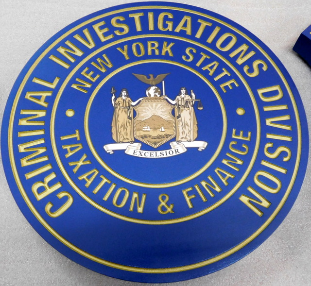 W32373 - Engraved HDU Wall Plaque for the Criminal Investigations Division, State of New York