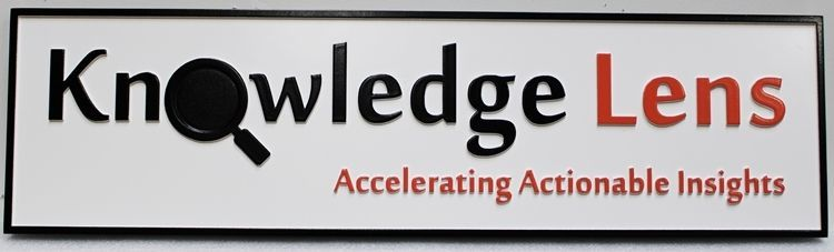 S28189 - Carved 2.5-DHDU  Sign for the Knowledge Lens Company