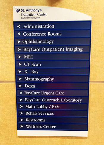 Acrylic Directional Directory