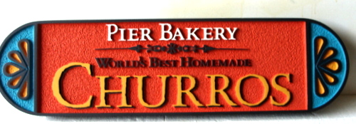 M1638 - Carved Bakery Sign, featuring Churros