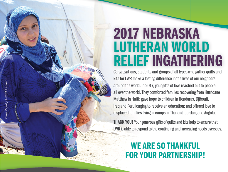 2017 Nebraska Lutheran World Relief Ingathering