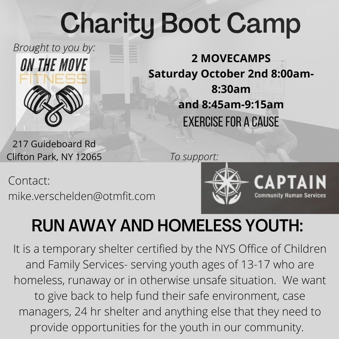 Get Moving for Runaway and Homeless Youth!!!