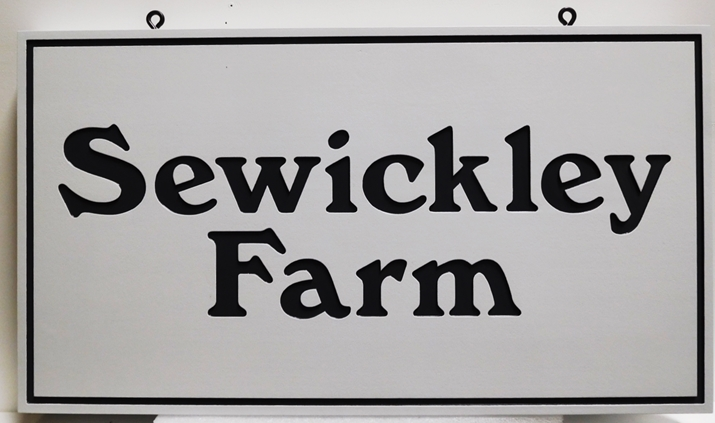 "O24045 - Engraved HDU Entrance Sign for the ""Sewickley Farm"""