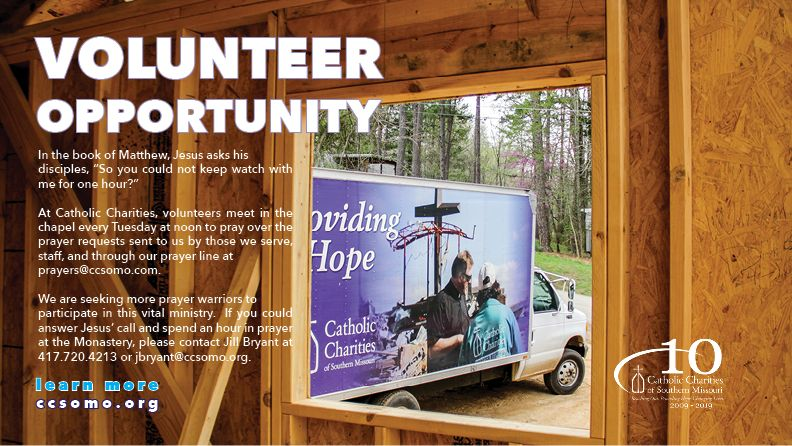 Volunteer Opportunity with our Prayer Ministry