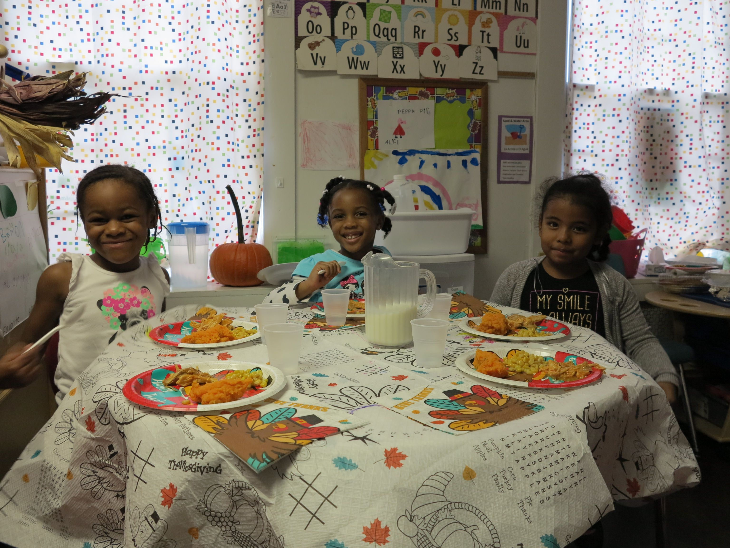 Friends enjoying Thanksgiving
