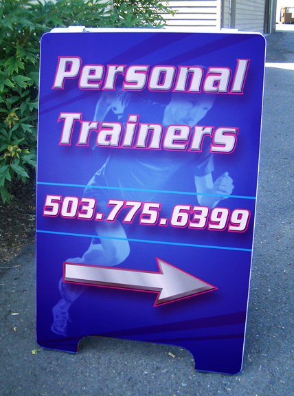 Personal Trainers A-board