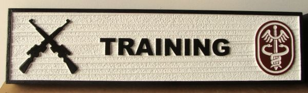 V31821 - Carved and Sandblasted HDU Sign for Room  (Training)