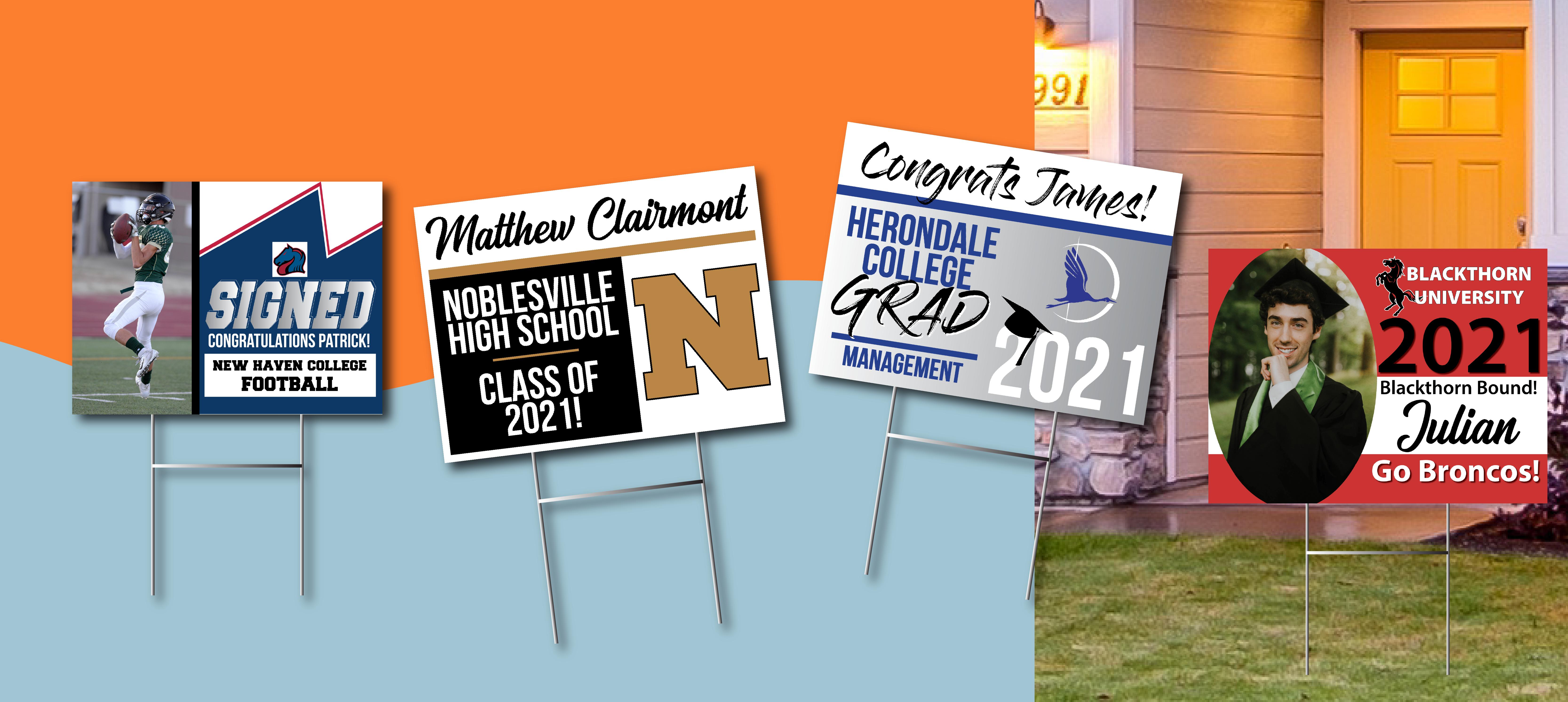 2021 Graduation Yard Signs
