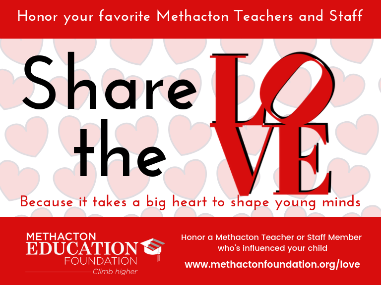 Share the Love Campaign: Honor Teachers and Staff
