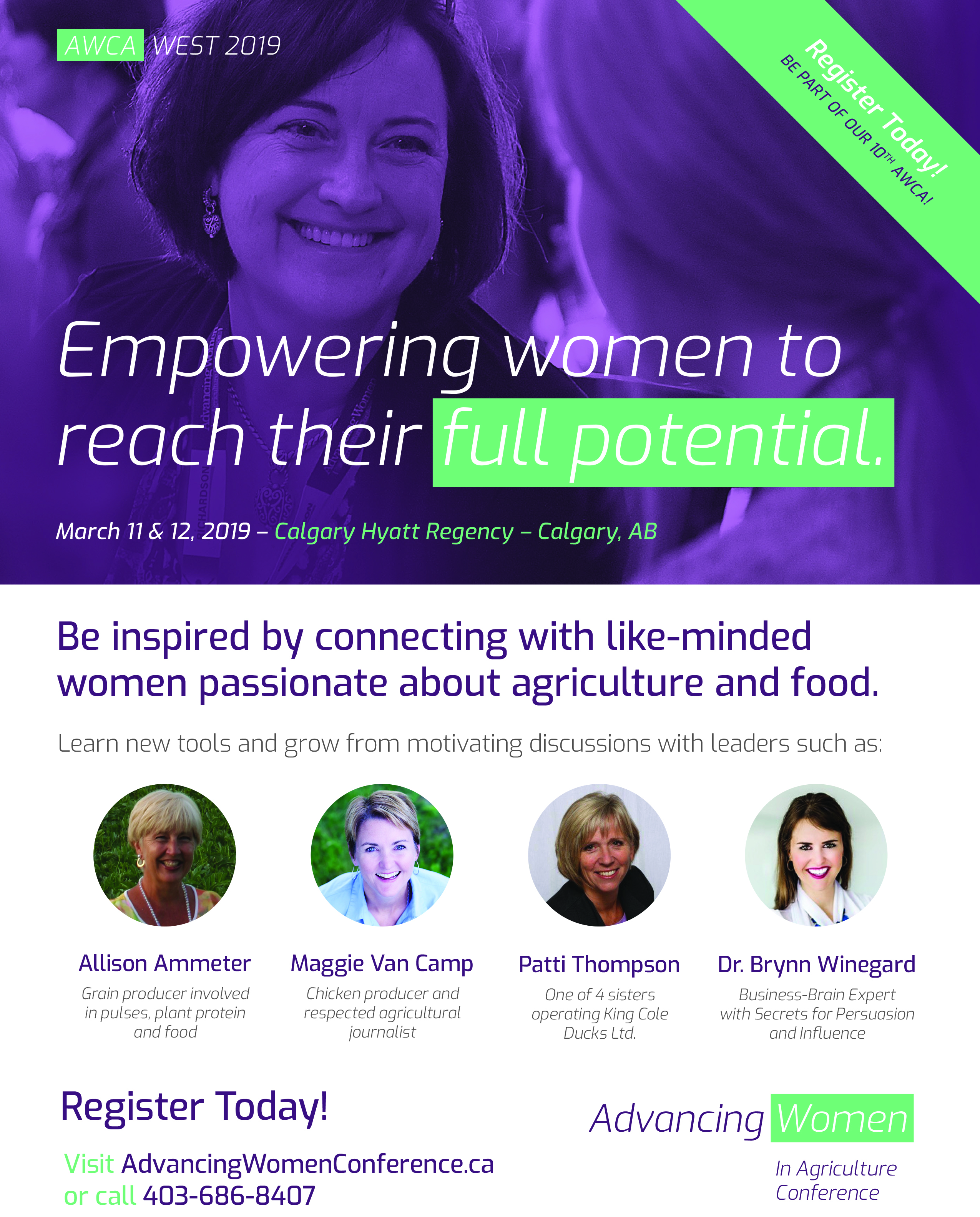 Advancing Women in Agriculture Conference | March 11 & 12, 2019