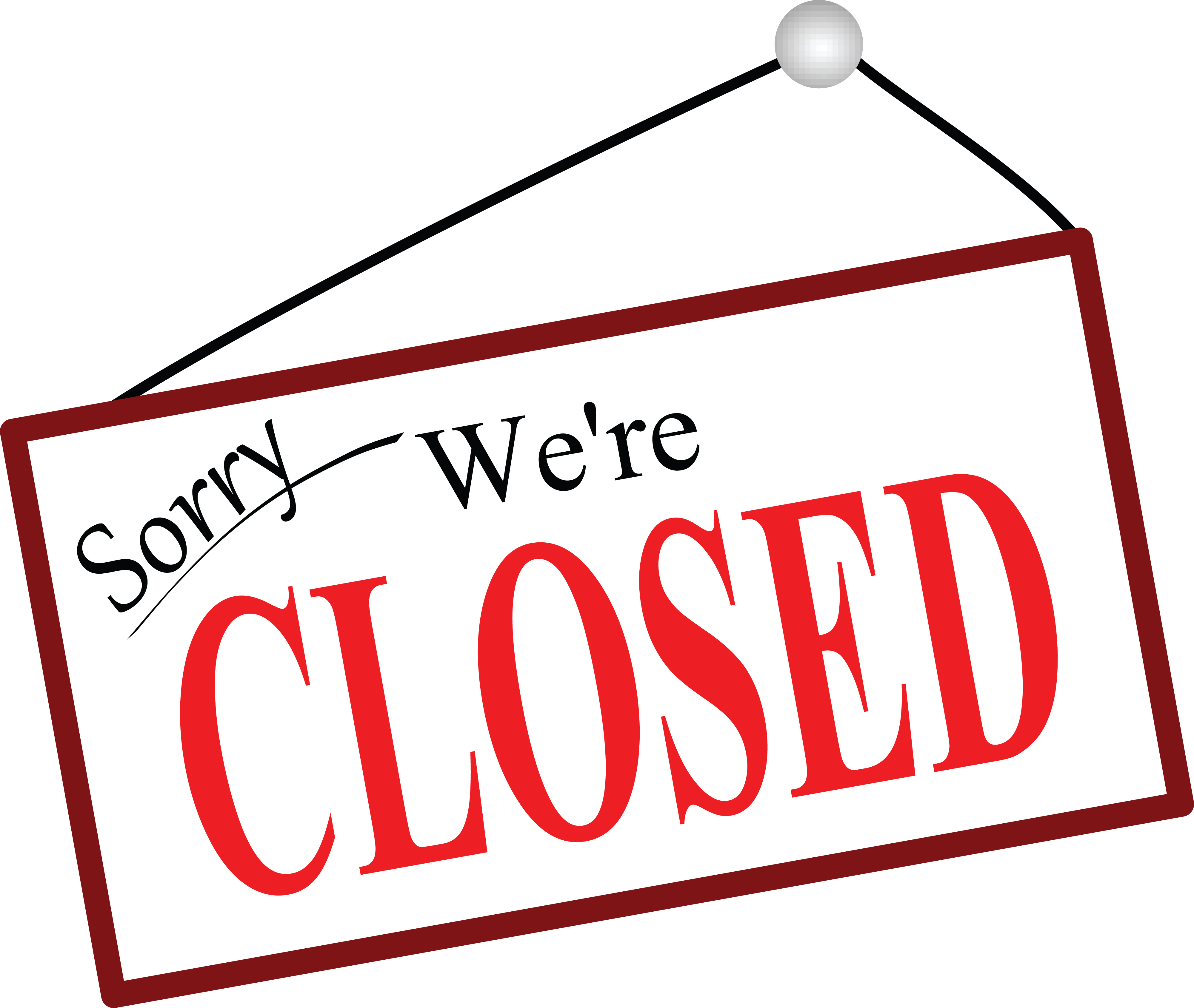 Closed for Work Day - June 29th
