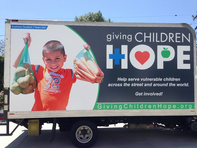 Nonprofit box truck wraps Orange County