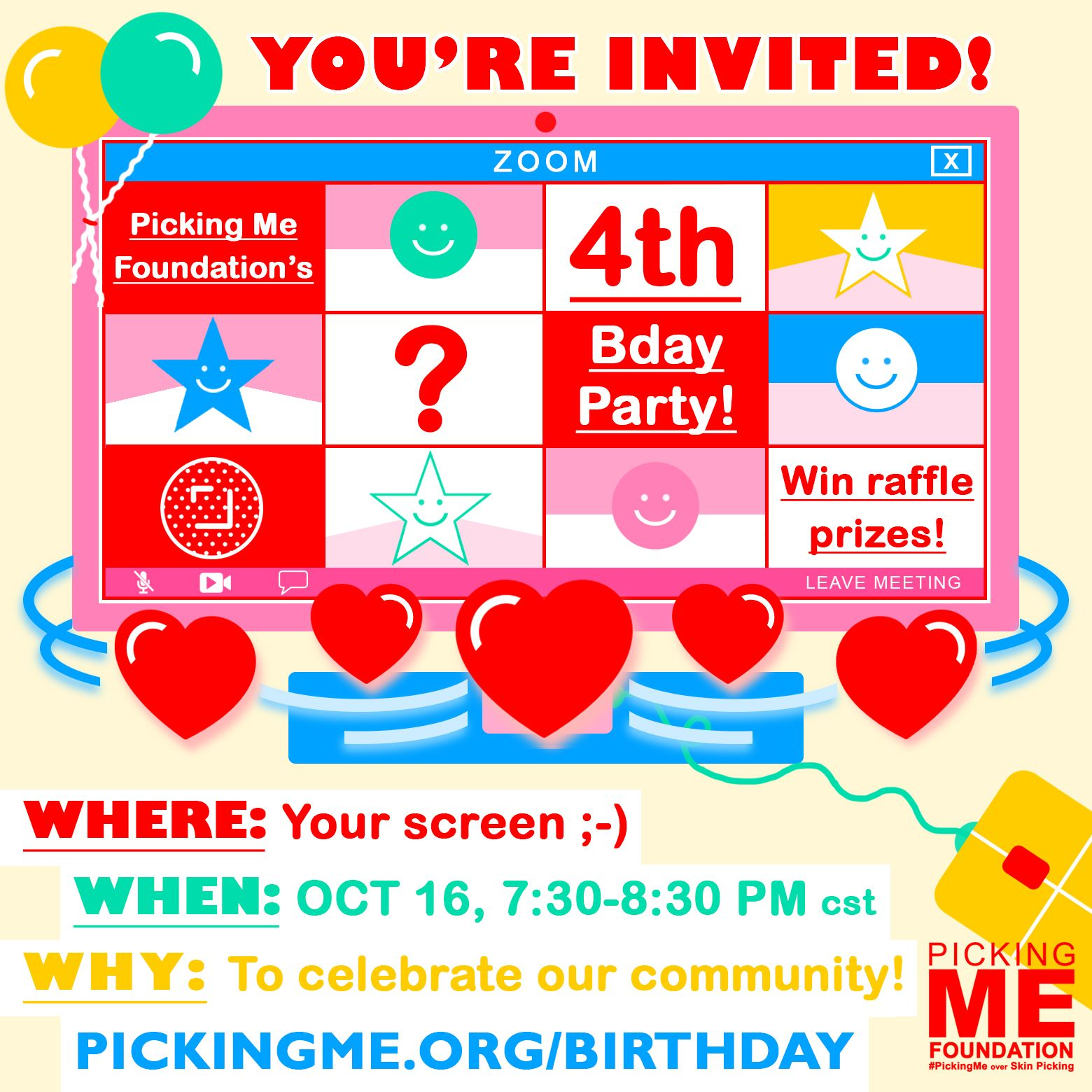#PickingMe's 4th Bday Zoom Party!