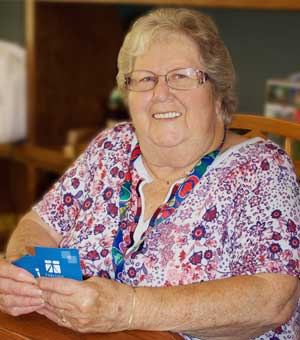 Judy Zimmer, Tabitha Volunteer