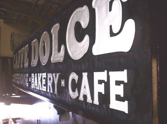 "Q25573 - HDU Sign for ""Cafe Dolce Coffeehouse Bakery Cafe"""