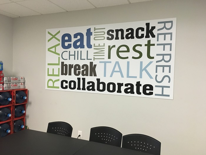breakroom wall graphic - Wall Graphic Designs