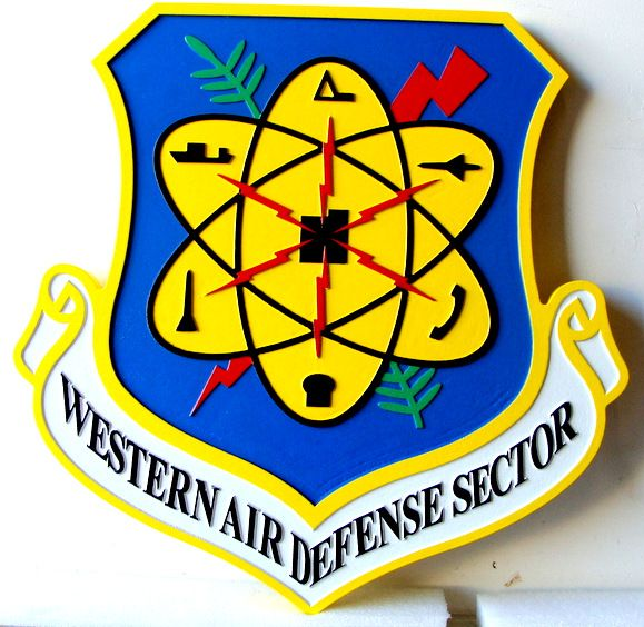 V31620 - Wall Plaque of the Shield and Crest of the USAF Western Air Defense Sector