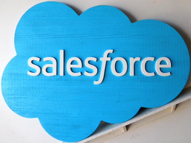 "SA28045 - Carved Wood  Sign for the ""Sales Force"" Store"