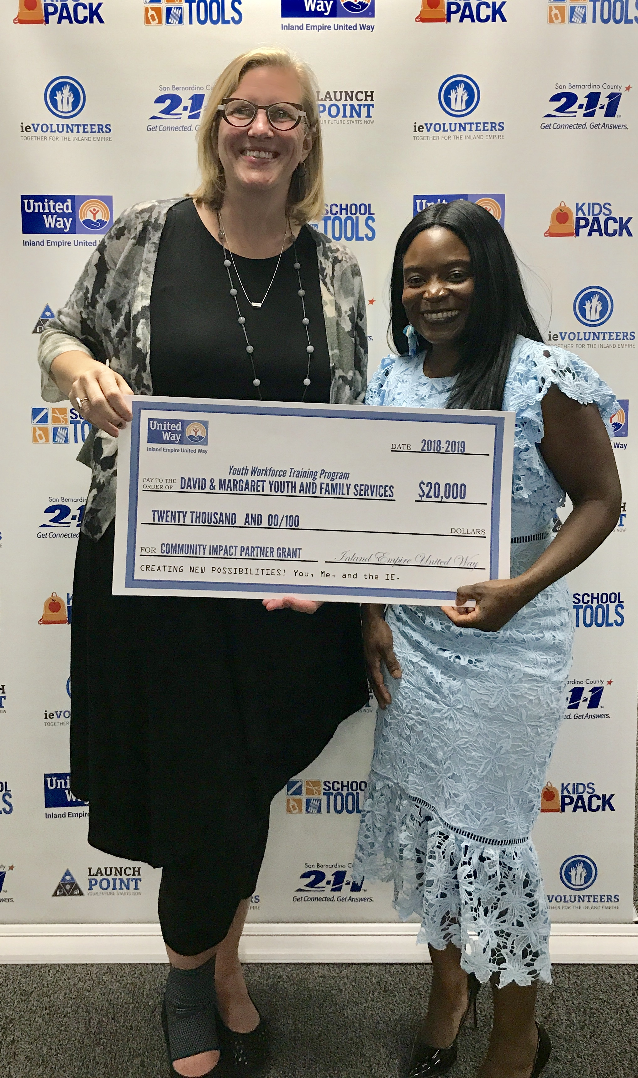 David & Margaret Receives Inland Empire United Way $20,000 Grant