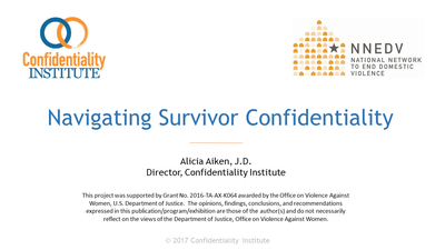 Navigating Survivor Confidentiality