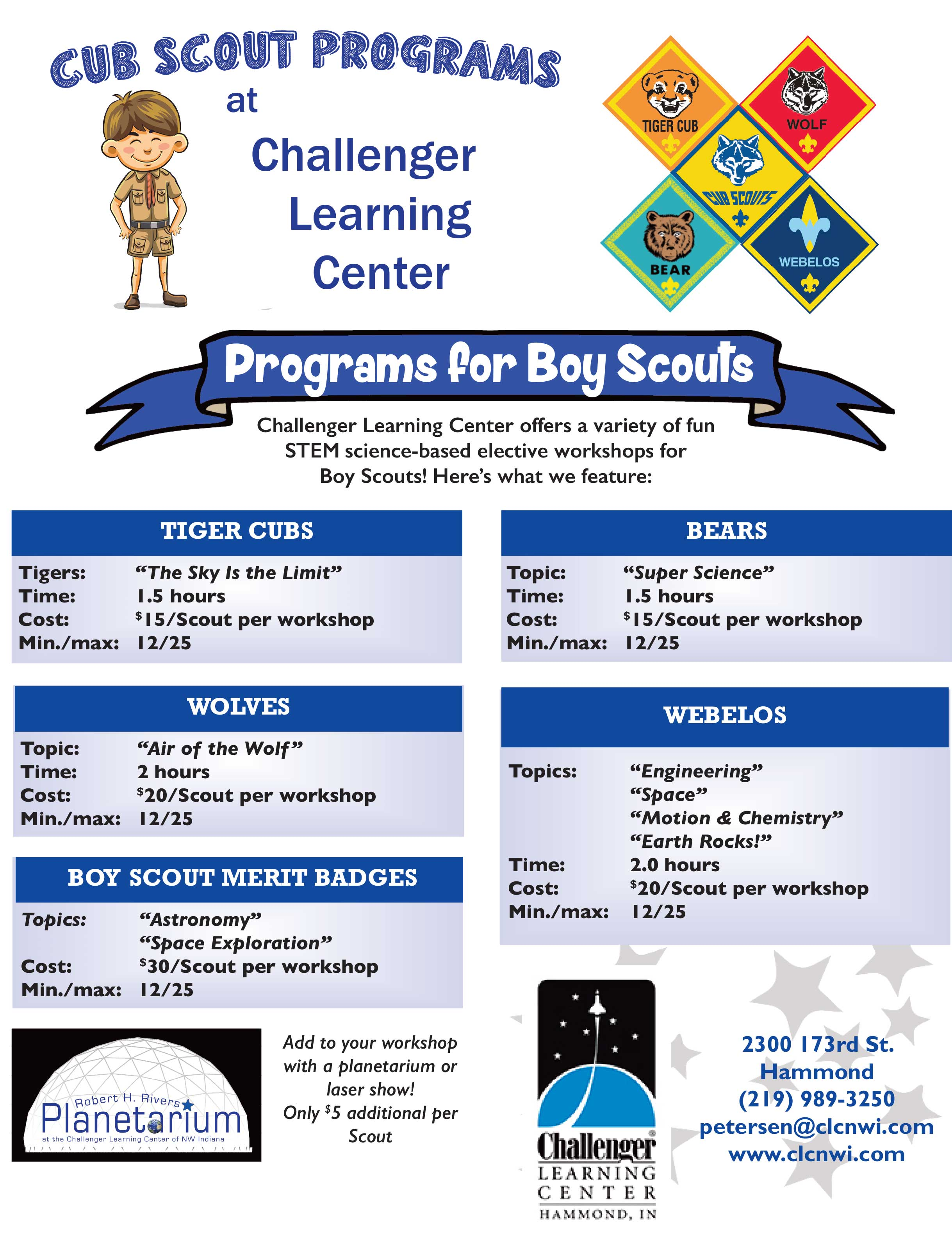 Interactive Learning for Boy Scouts   Challenger Learning Center