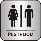 Contemporary Restroom Sign