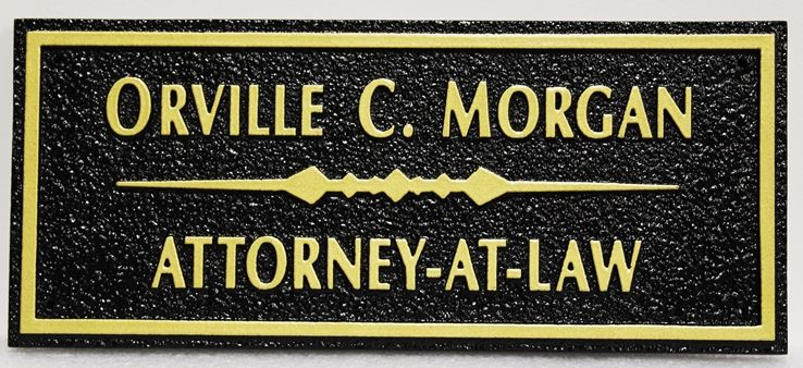 A10347 - Carved HDU Sign for Orville C. Morgan, Attorney-at-Law