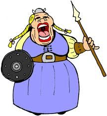 This is a picture of a cartoon women dressed like a barbarian