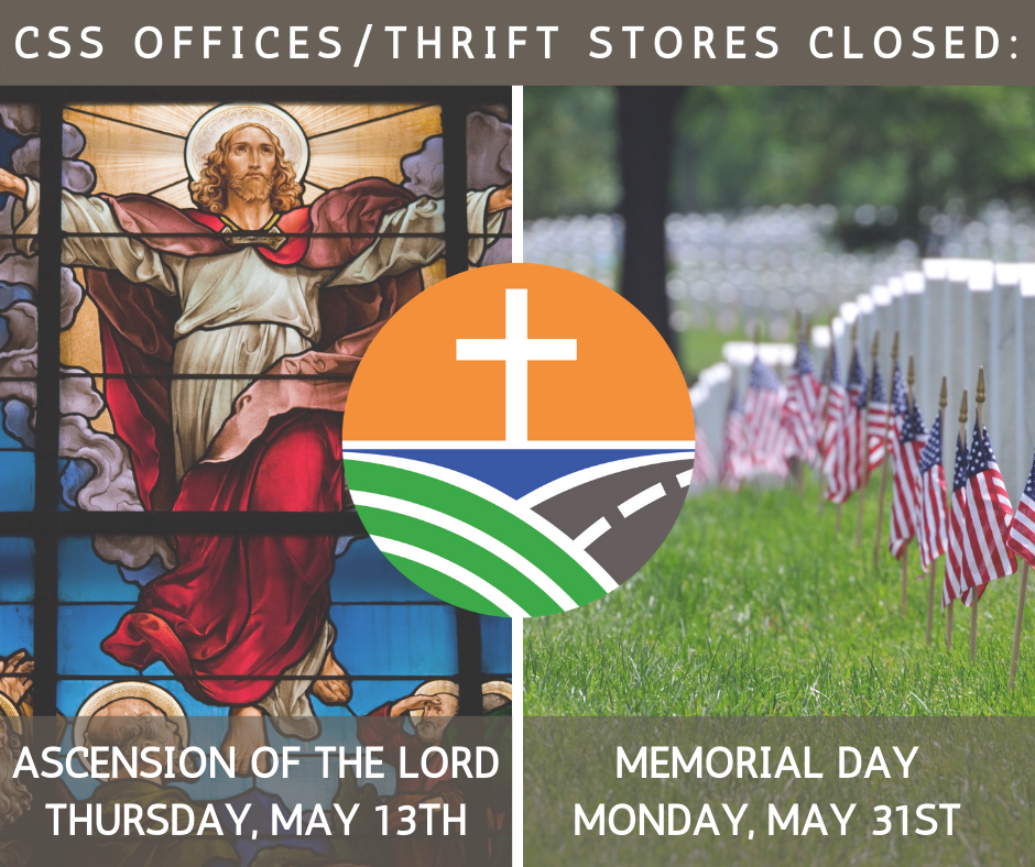 Agency Offices & Thrift Stores Closed