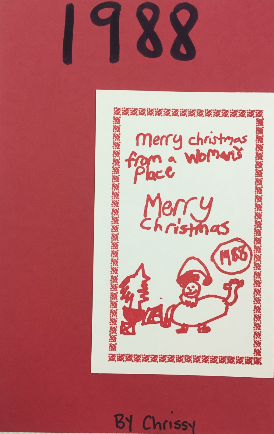 A holiday card created by an AWP client's child.