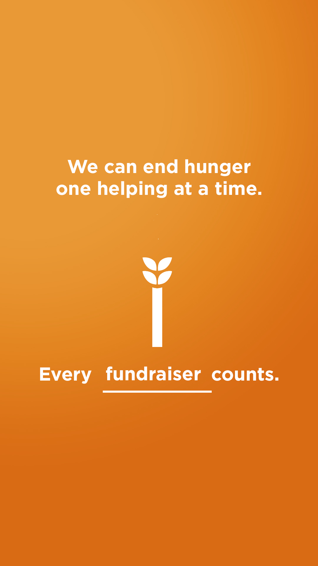 We can end hunger - Fundraiser