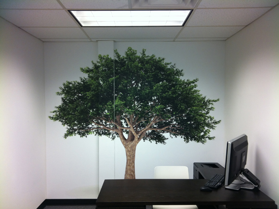 Office Tree Mural