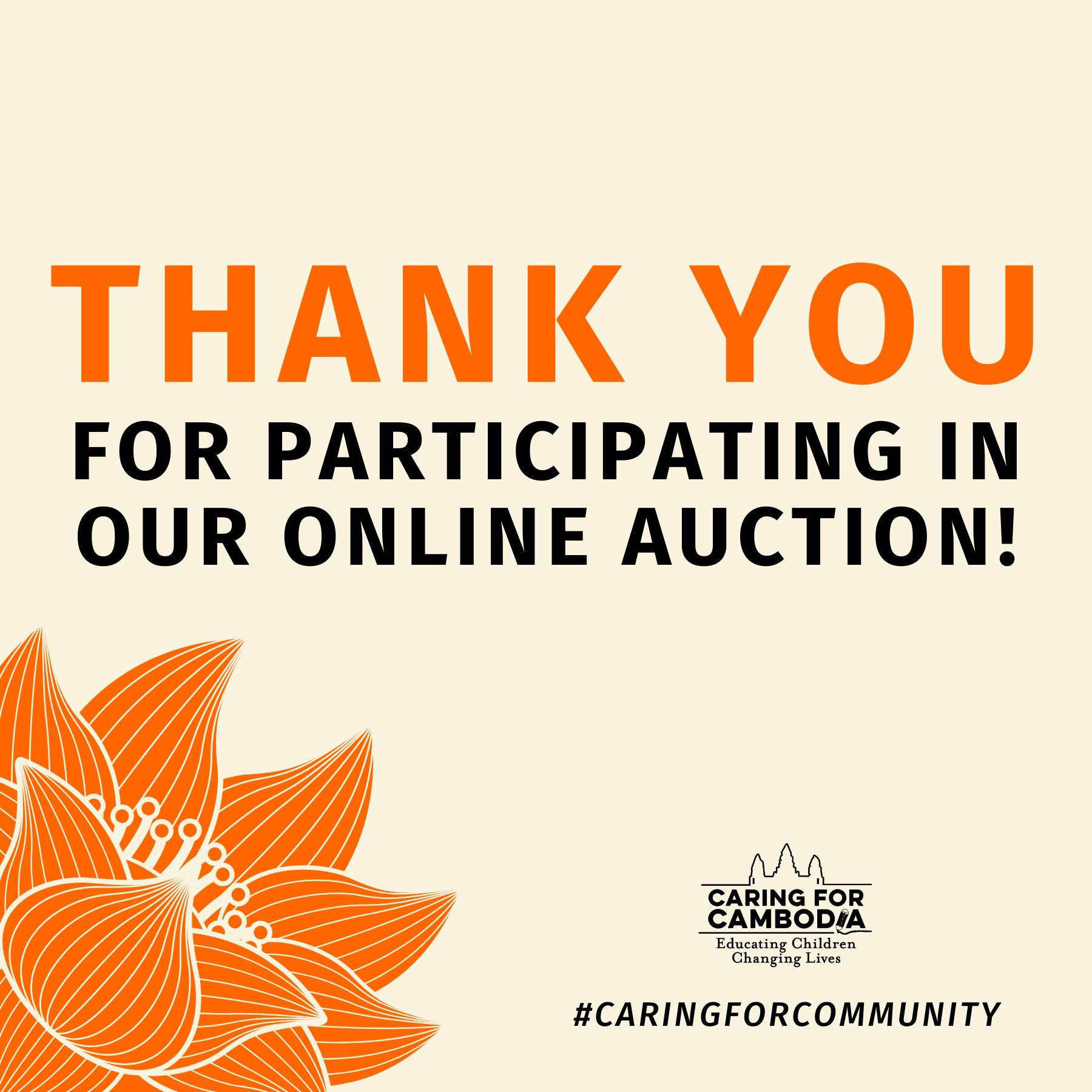 CFC's First Ever Online Auction Raises more than $20,000