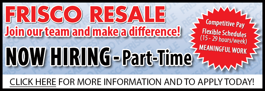 now hiring part time at resale spotlight 2019