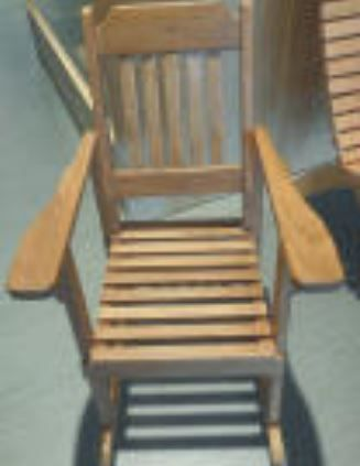 Armed Rocking Chair built by woodworking volunteers
