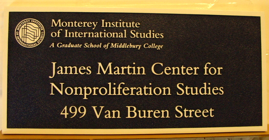 FA15544 - Dimensional  Building Identification Sign for James Martin Institute