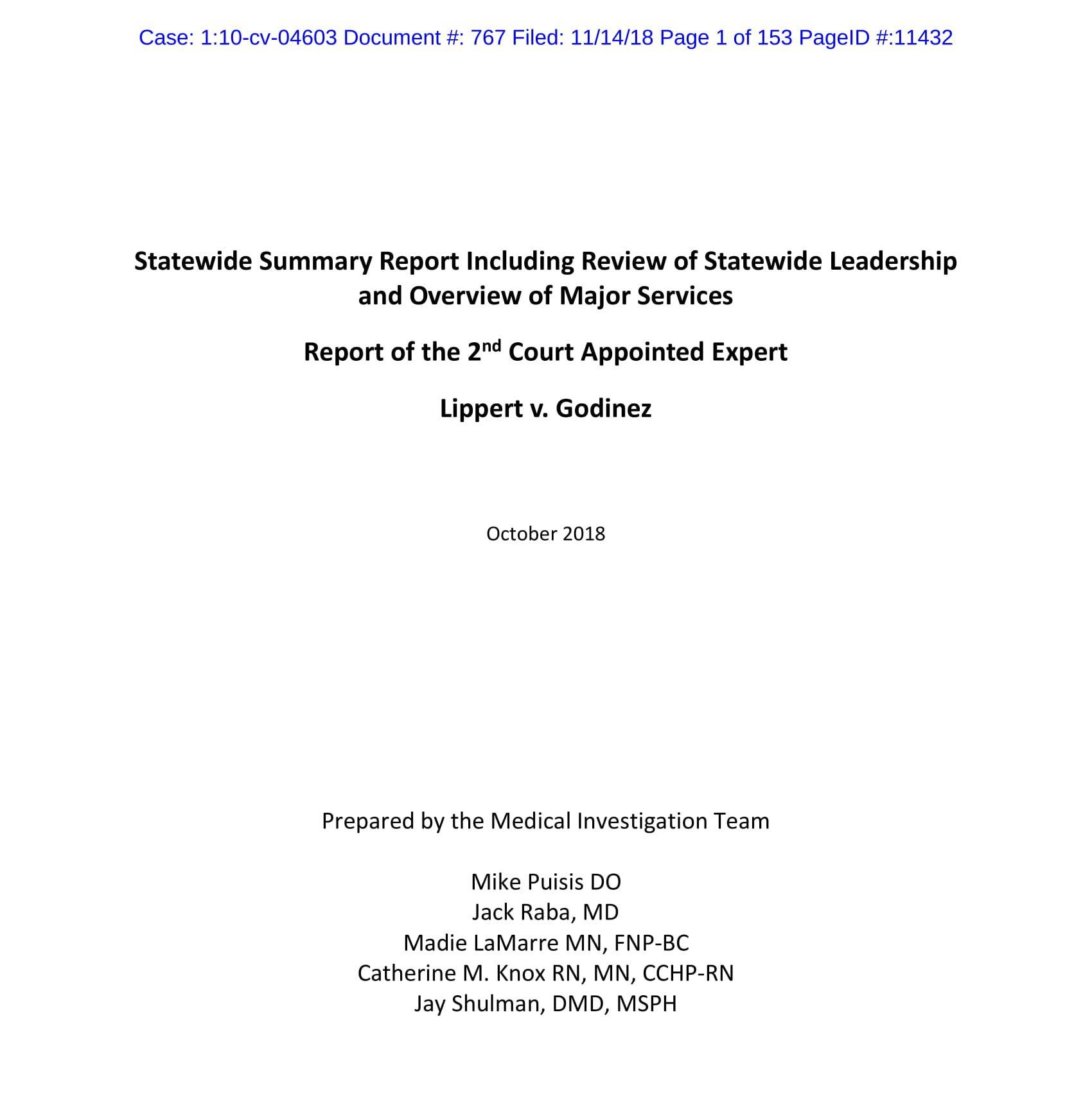 Lippert v. Baldwin: 2nd Expert Report (2018)