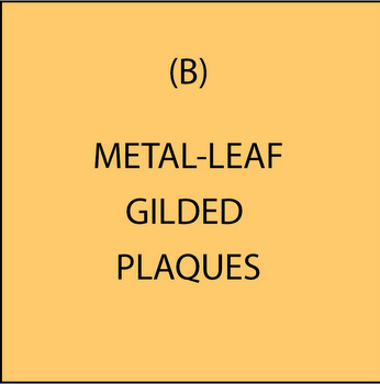 M7300 - (B) Gold, Silver and Copper-Leaf Gilded, and Metallic Painted Plaques