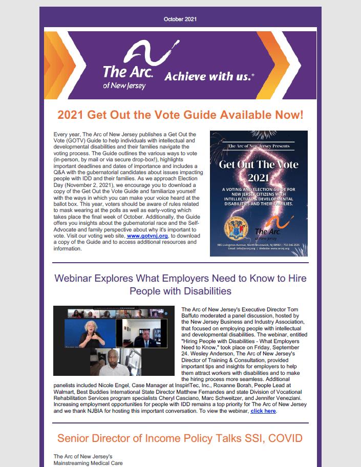 October E-News 2021