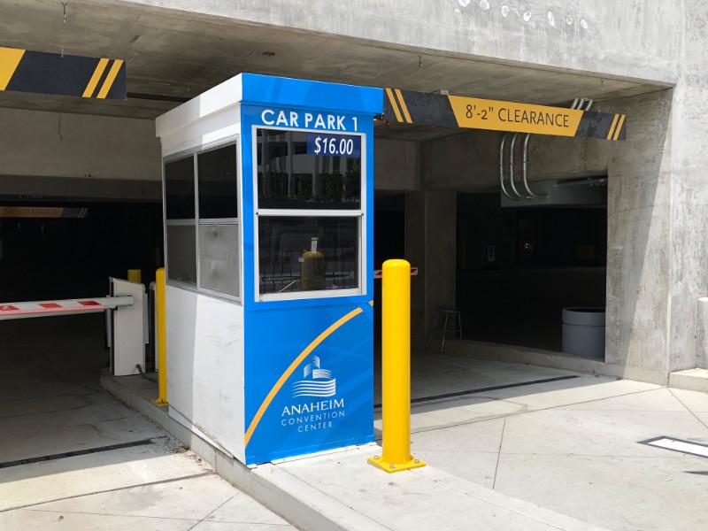 Parking Garage Pay Booth Graphics Anaheim CA