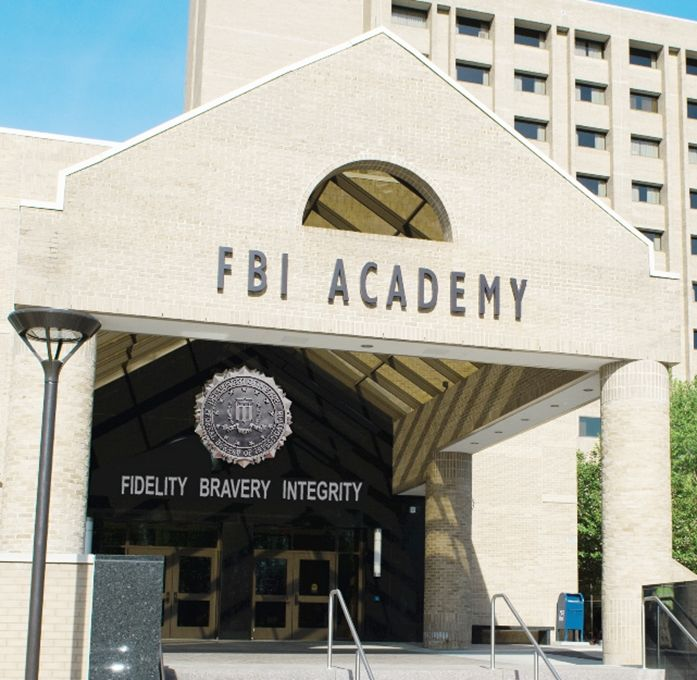 AP-2415 - FBI Plaque Mounted on Entrance to FBI Academy