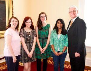 Rep. Greg Burdine, Darlene Freemon, Gabrielle D'Arcy, Sara Kachelman, & Teena Patel.