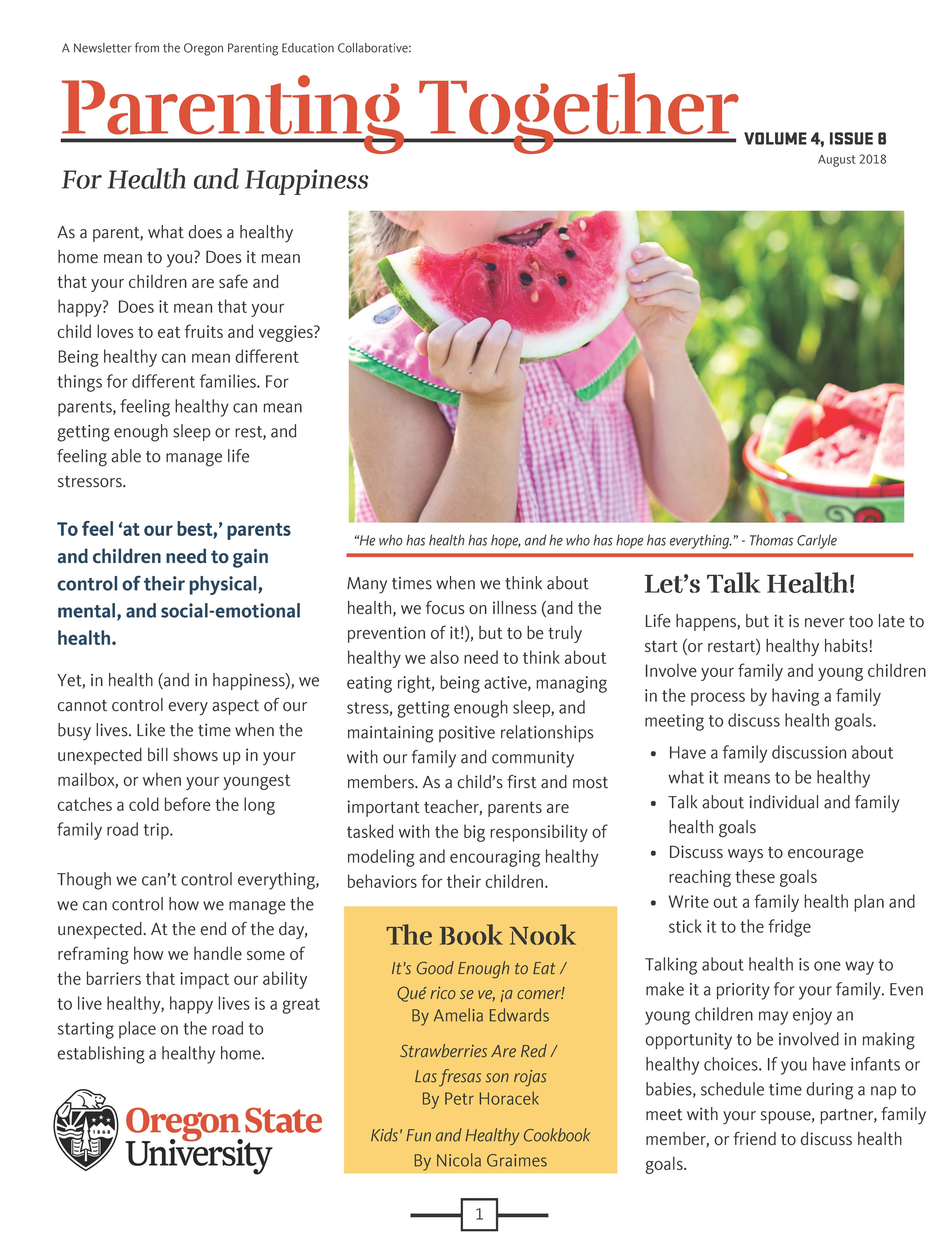 family resource center of central oregon resources parent newsletter