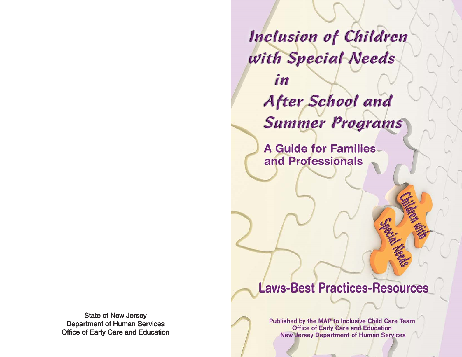 Inclusion of Children with Special Needs in After School & Summer Programs Resource Guide