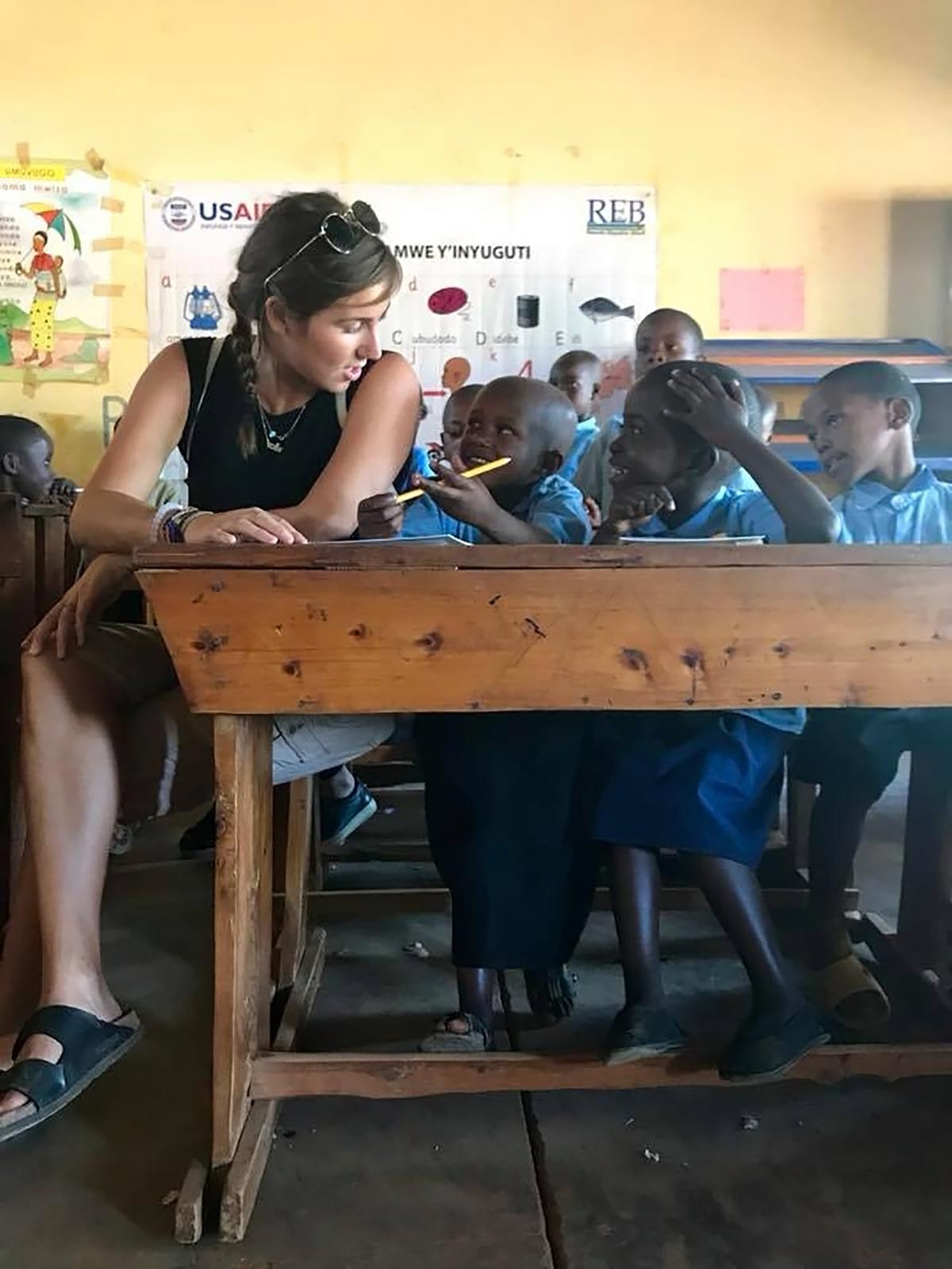 Jessica in the classroom, 2018.